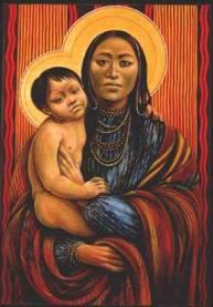 Native American madonna